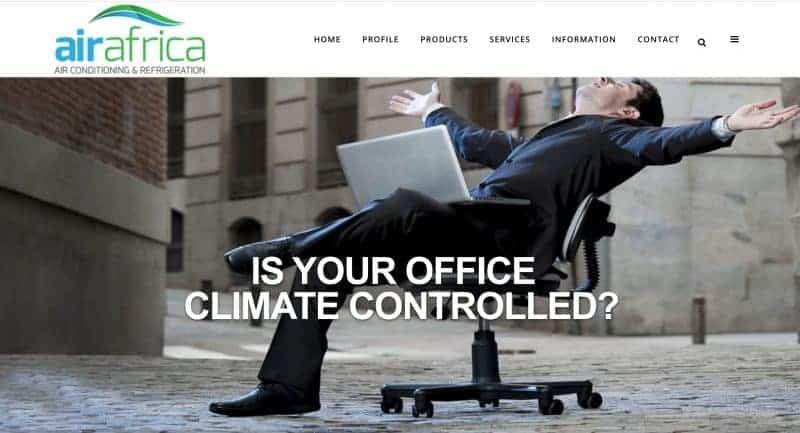 airconditioning website design