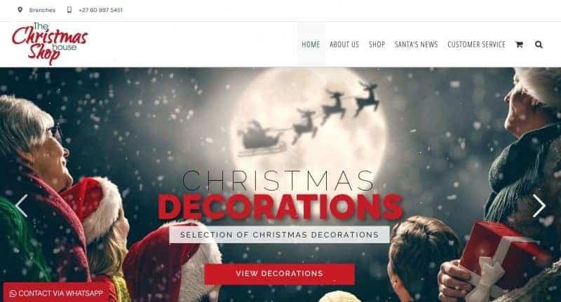 christmas shop website design