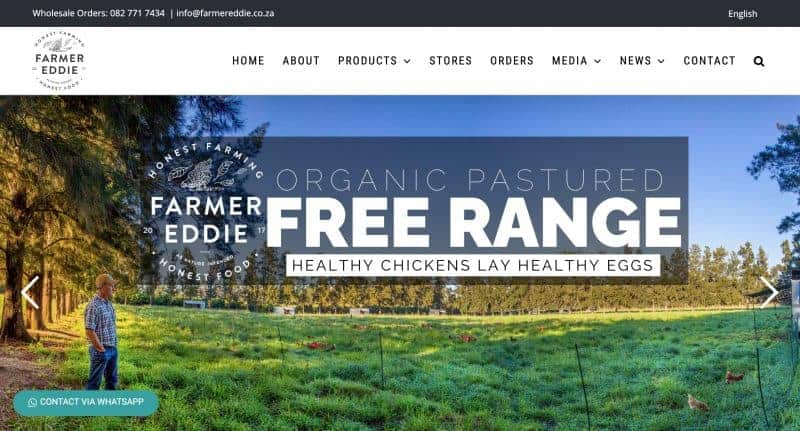 farming website design