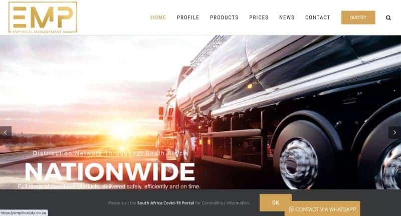 fuel website design