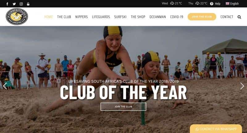 lifesaving club website design