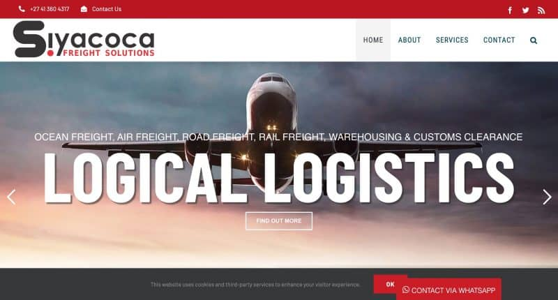 logistics website design