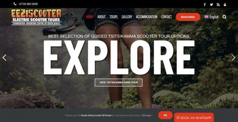 tour website design