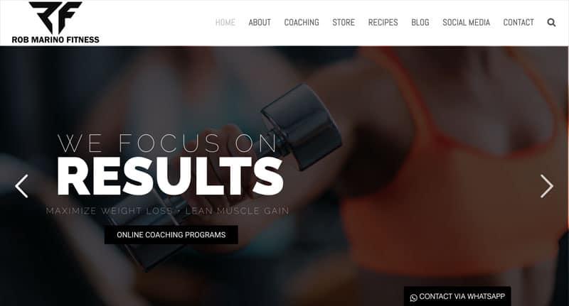 Personal Fitness Trainer Website Design