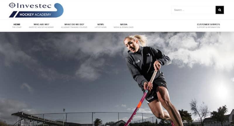 hockey academy website design