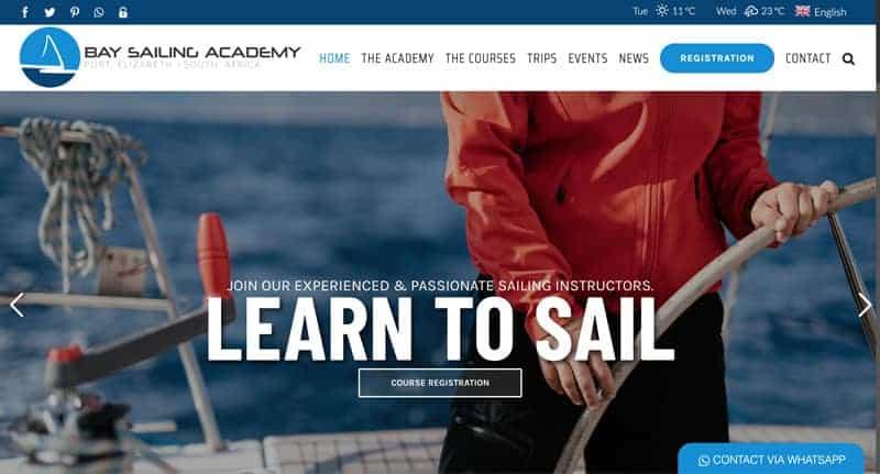 sailing-academy-website-design