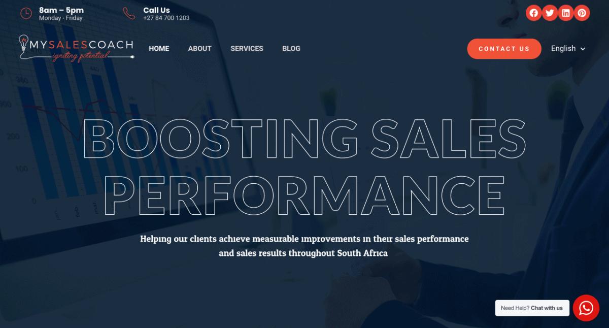 Sales Consultant Website Design